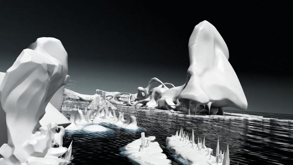 Iceberg, (Rompere le acque), 2012, stampa digitale su carta cotone, 150 x 85 cm
