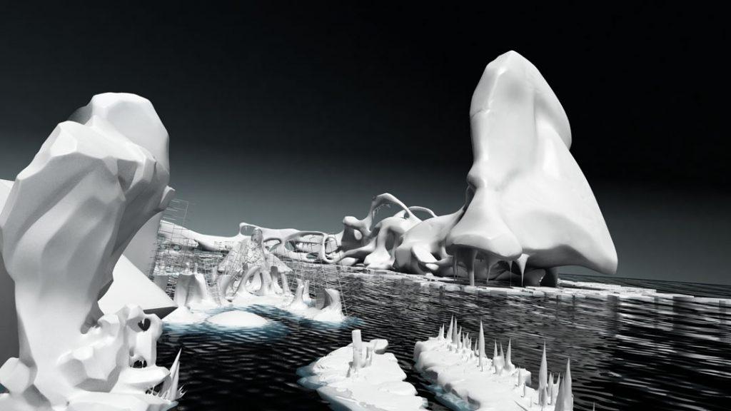 Iceberg, (Rompere le acque), 2012, digital print on cotton paper, 150 x 85 cm