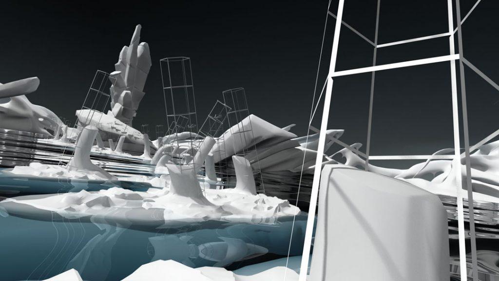 The Ghosts of the Ice, (Rompere le acque), 2013, stampa digitale su carta cotone, 150 x 85 cm