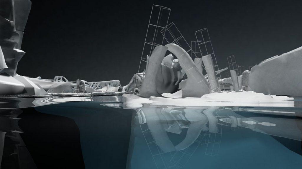 Ice Bow (Rompere le acque), 2013, stampa digitale su carta cotone, 150 x 85 cm