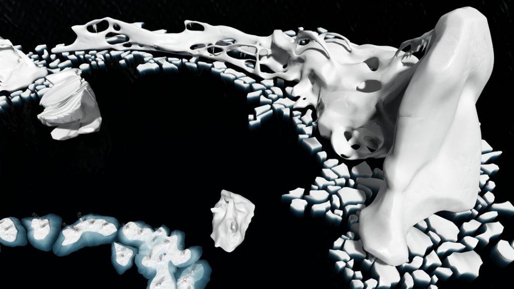 Ice Melting (Rompere le acque), 2013, digital print on cotton paper 150 x 85 cm