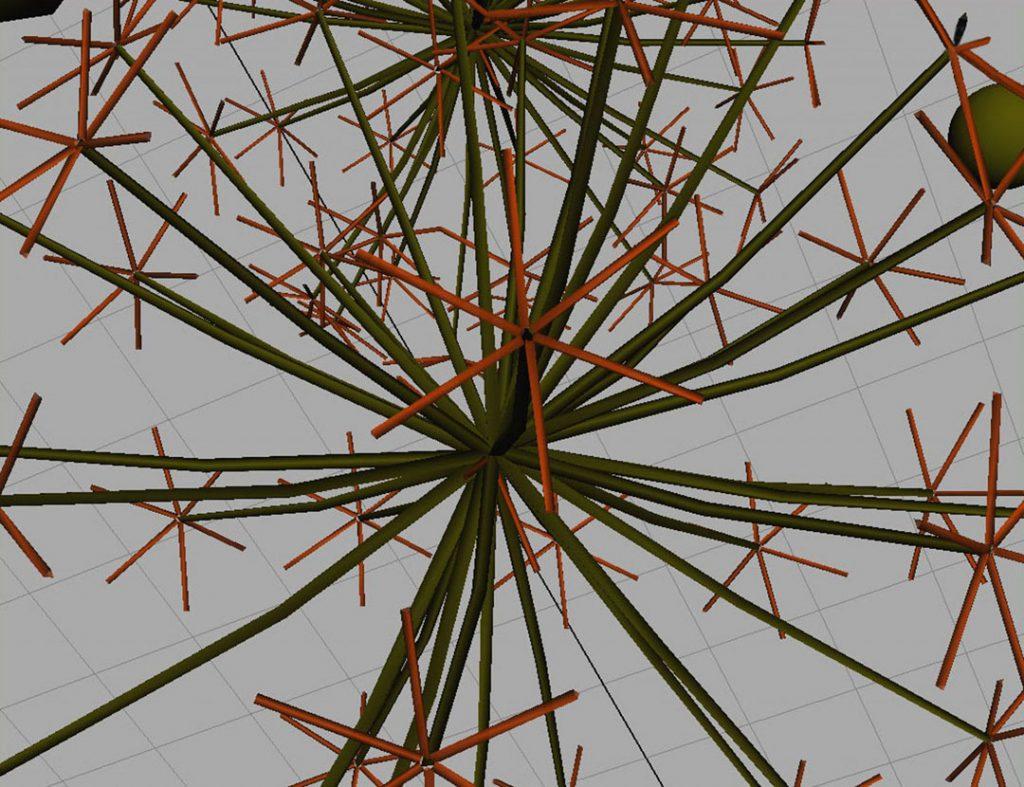 Senza titolo X (Nanoparticles and dandelion clock), 2009, digital and acrylic print on cotton paper, 35 x 45 cm