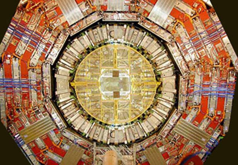 Lhc, acceleratore di particelle in fase di costruzione, Cern, Ginevra