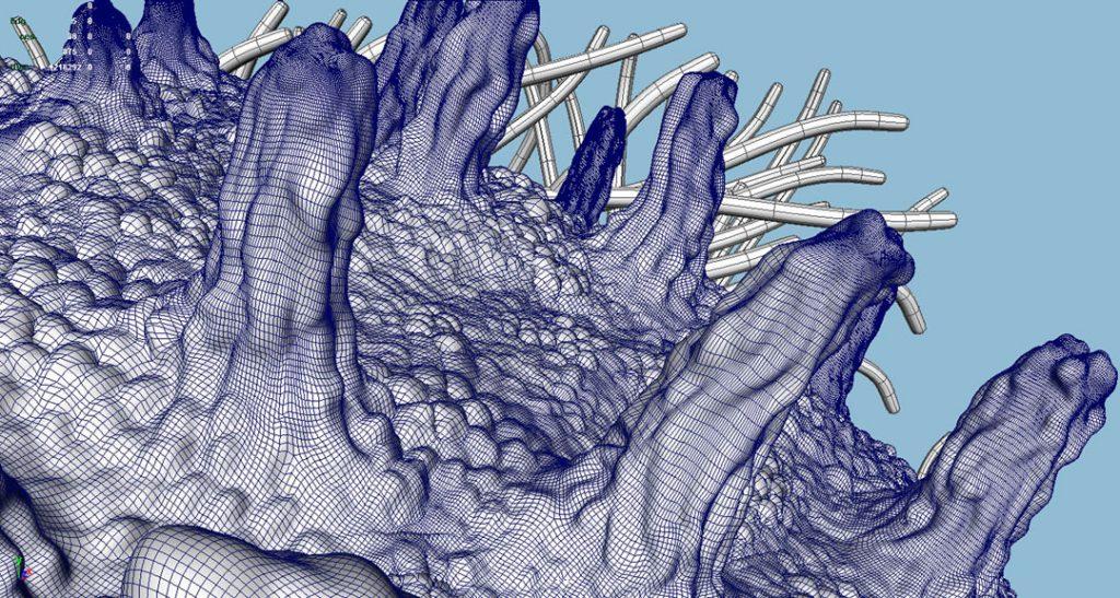 Nanofungus I (Nanomushroom), 2008, stampa digitale  e acrilico su carta cotone, 23 x 45 cm