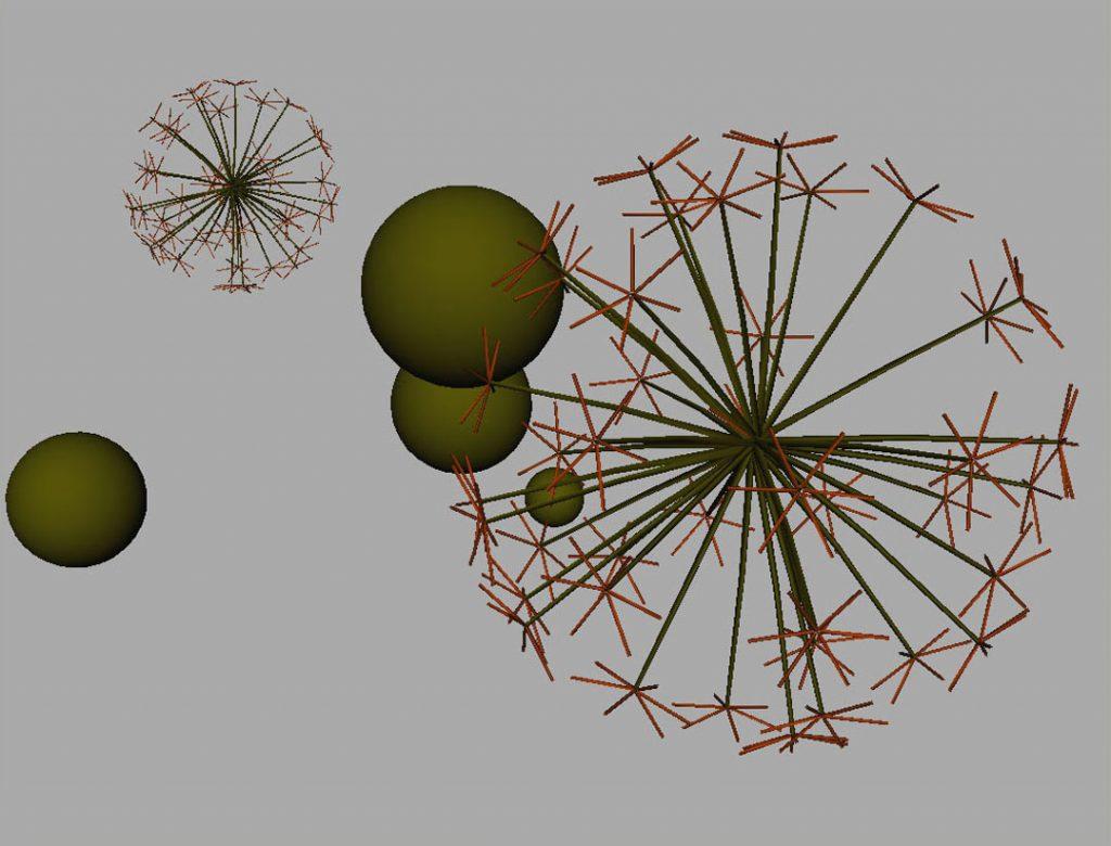 Senza titolo III (Nanoparticles and dandelion clock), 2009, digital and acrylic print on cotton paper, 35 x 45 cm