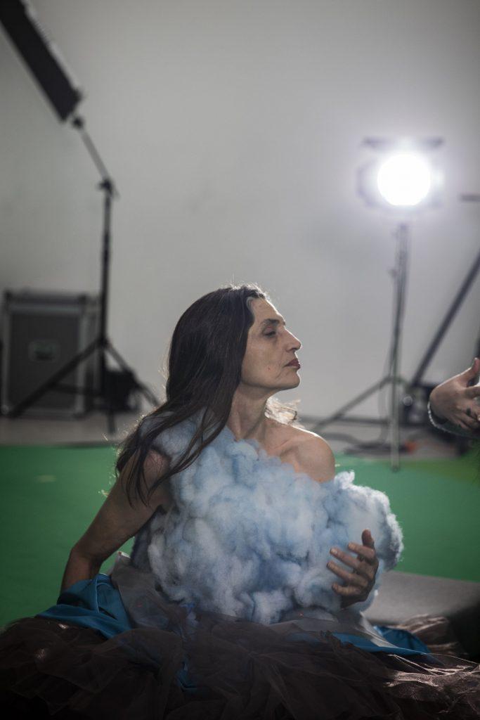 Angela Molina sul set