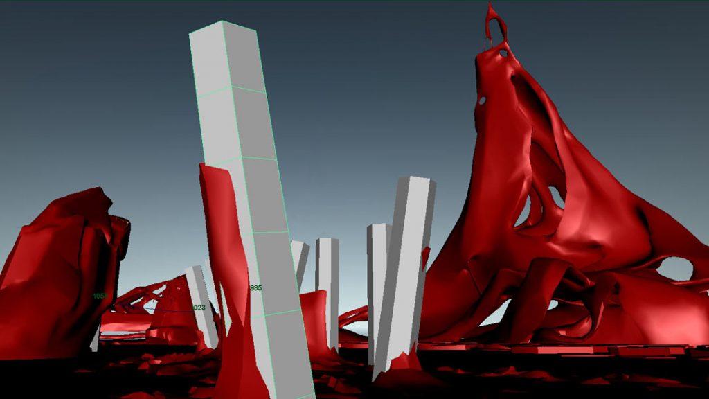 Senza titolo I (Rompere le acque), 2012, digital print on cotton paper, 28 x 50 cm