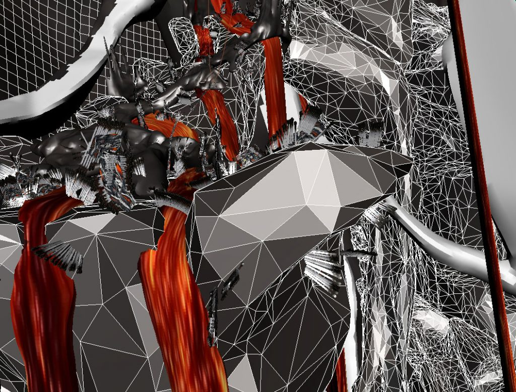 Senza titolo I (Fire Flows), 2014, digital print on cotton paper, 28 x 50 cm