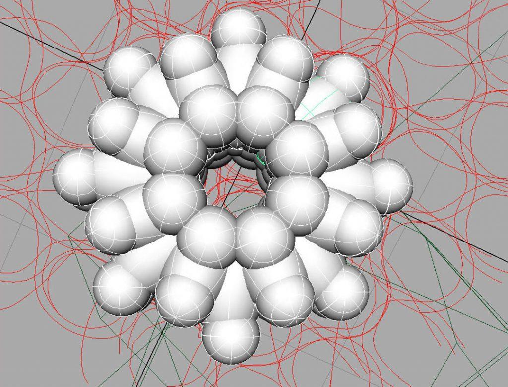Senza titolo III (The God Particle), 2009, stampa digitale e acrilico su carta cotone, 45 x 60 cm