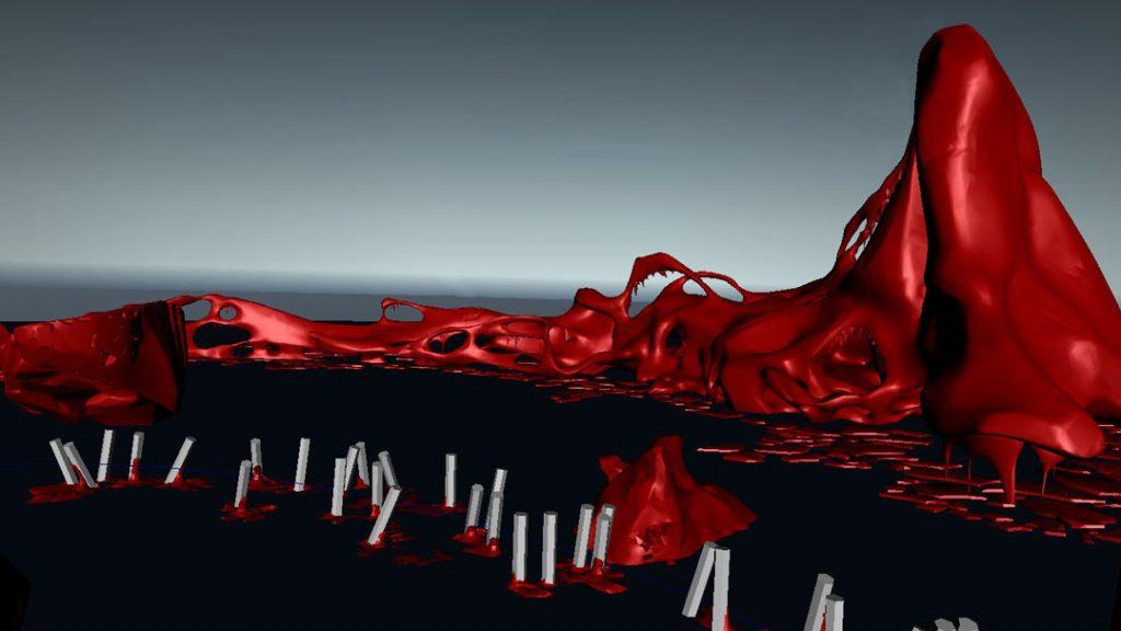 Senza titolo VII (Rompere le acque), 2012,  digital print on cotton paper, 28 x 50 cm