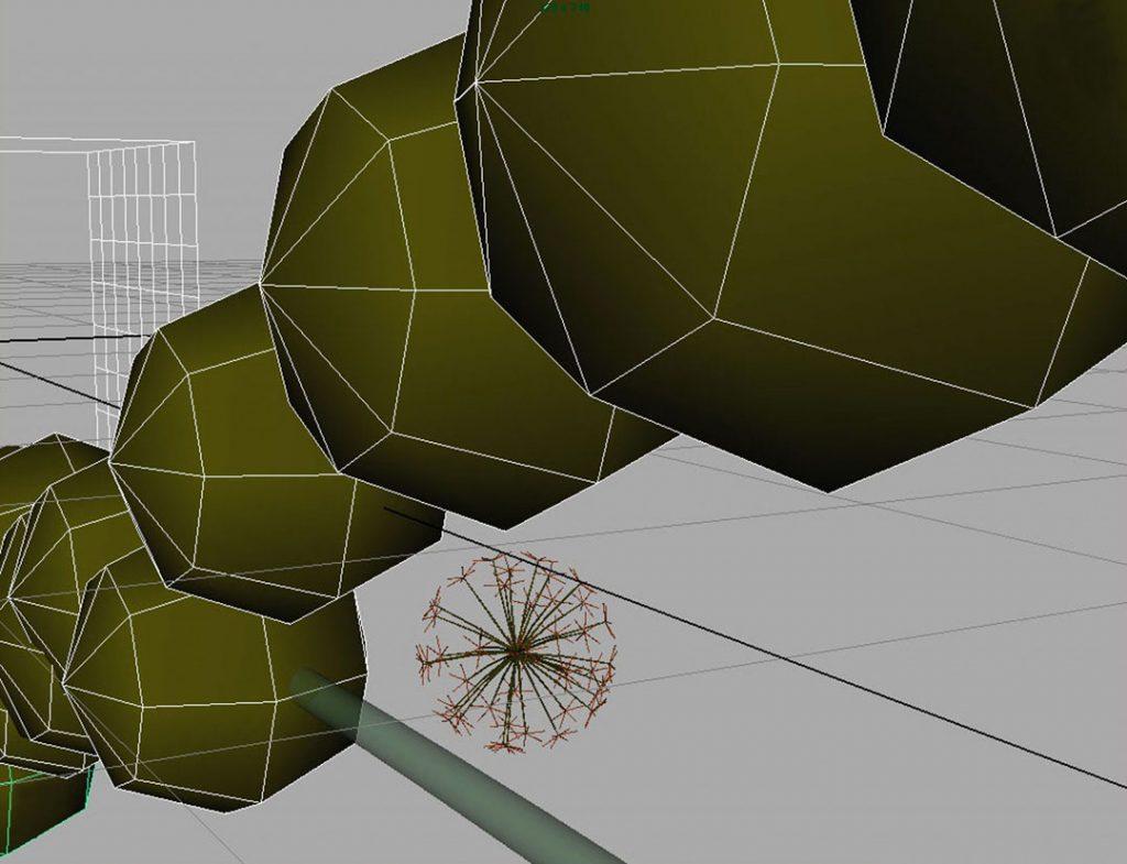 Senza titolo V (Nanoparticles and dandelion clock), 2009, stampa digitale  e acrilico su carta cotone, 35 x 45 cm