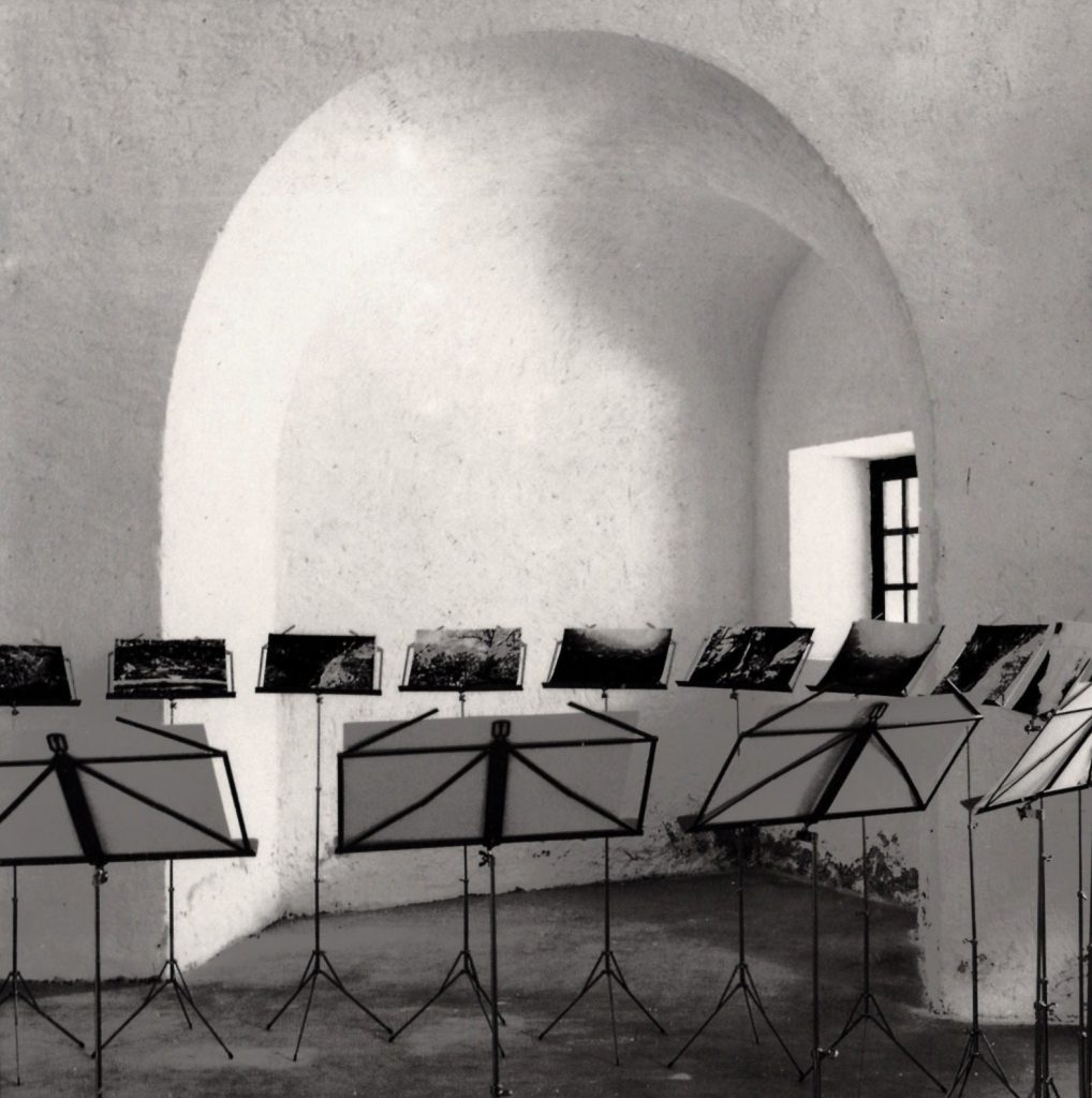 Il Silenzio delle Fate, 1990 veduta dell'installazione, Forte di Bard, Aosta, 1990 (foto Cesare Ballardini)