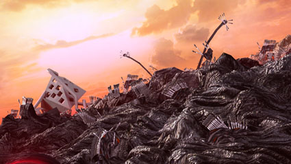 Objects with Burnt Sky, (Fire Flows), 2012, digital print on cotton paper, 50 x 28 cm