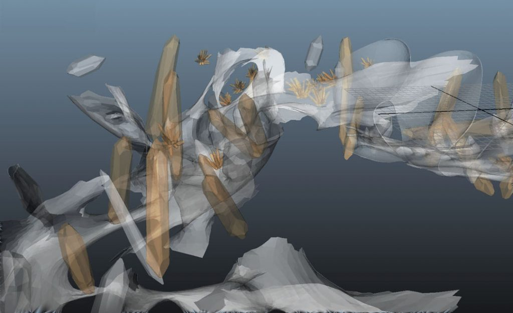 In Flight (Crystal Growth), 2012, digital print on cotton paper, 28 x 50 cm