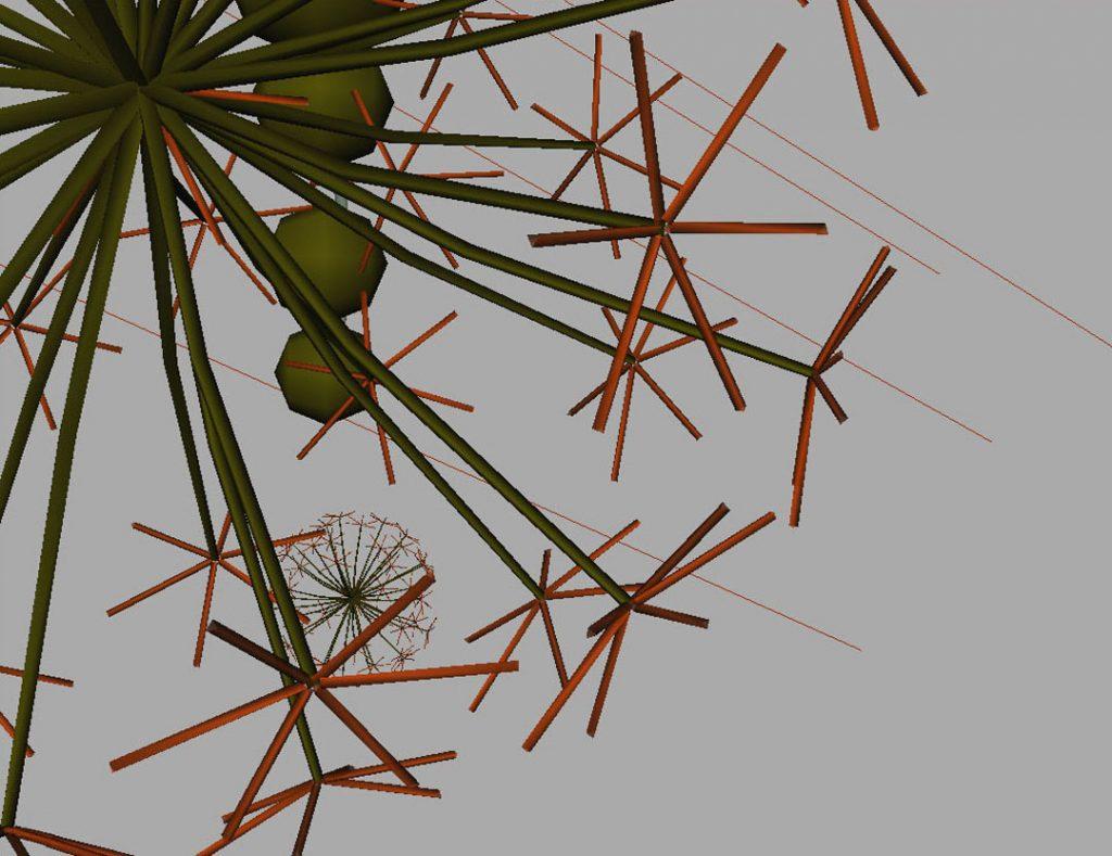 Senza titolo VIII (Nanoparticles and dandelion clock), 2009, digital and acrylic print on cotton paper, 35 x 45 cm