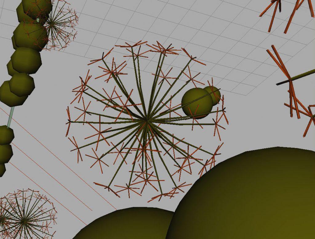 Senza titolo IX (Nanoparticles and dandelion clock), 2009, stampa digitale  e acrilico su carta cotone, 35 x 45 cm