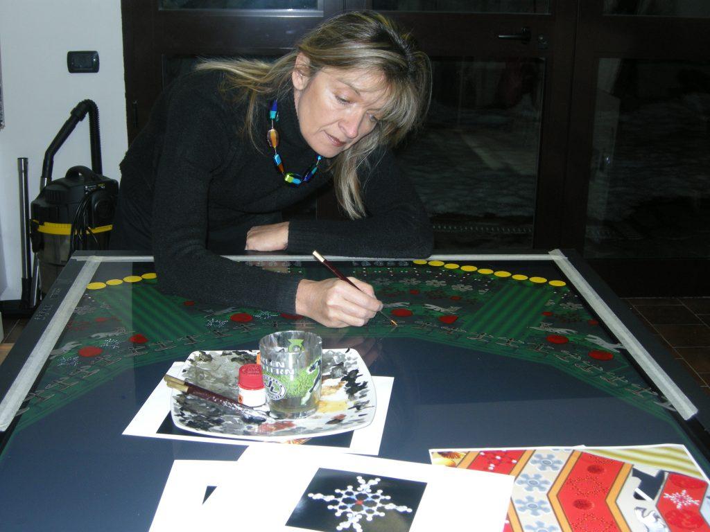 Giuliana Cunéaz durante la realizzazione di The God Particle, 2009