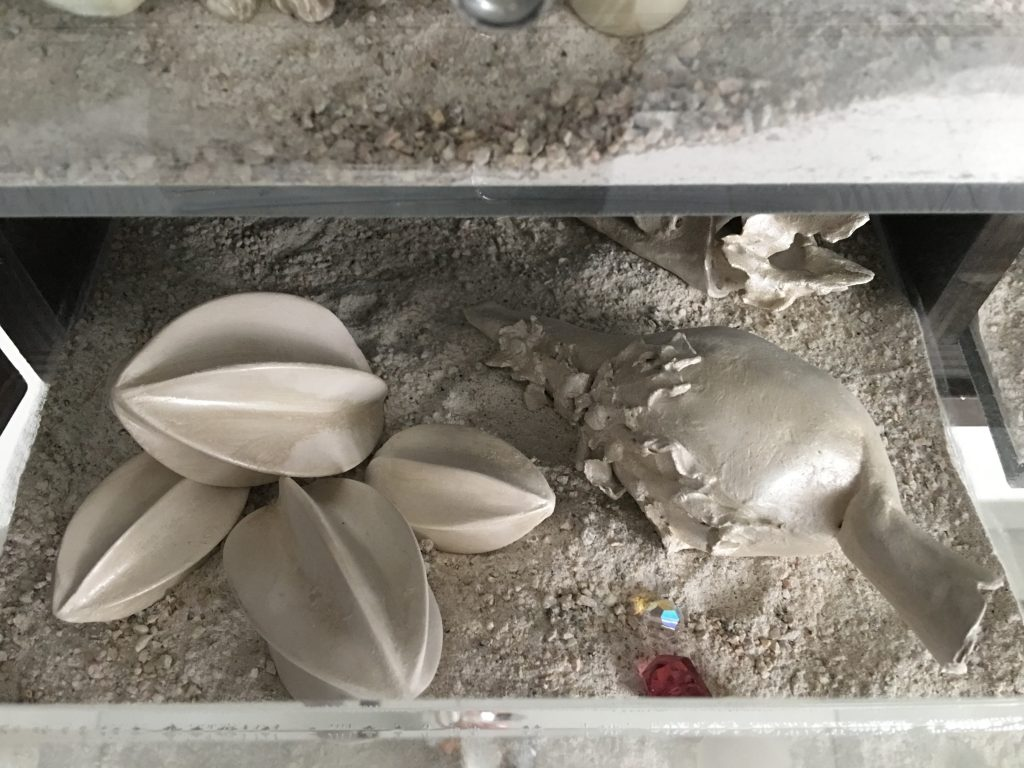 Matter waves unseen (detail), 2012, raw clay and glaze