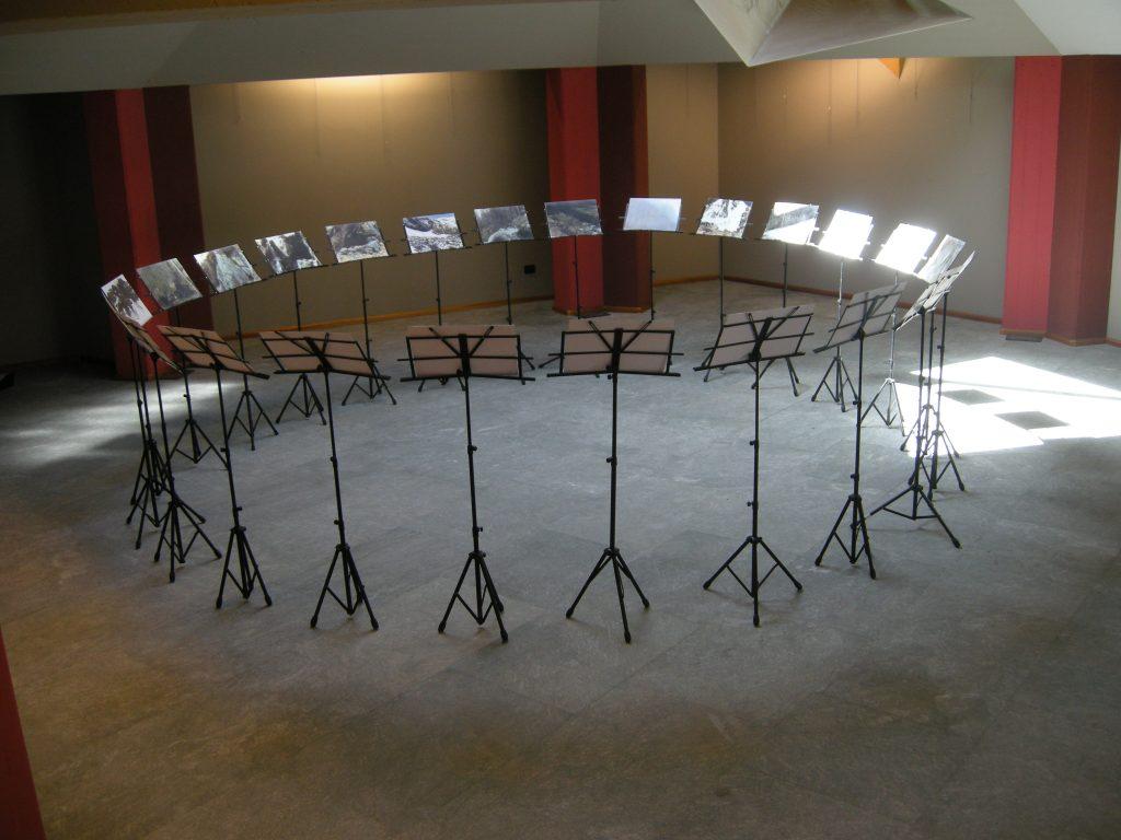 Il Silenzio delle Fate, 1990 veduta dell'installazione, Maison Gargantua, Gressan, 2014