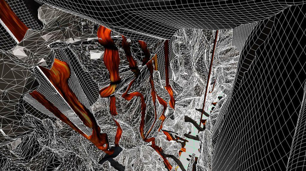 Senza titolo II (Fire Flows), 2014, stampa digitale su carta cotone, 28 x 50 cm