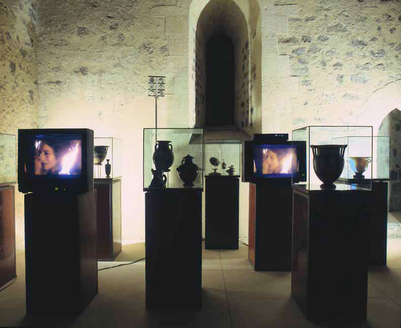 Biostory, 2000, vedute dell'installazione. Castello Ursino, Catania, 2001
