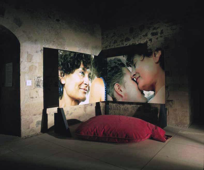 Biostory, 2000, veduta dell'installazione, Castello Ursino, Catania, 2001