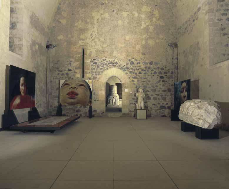 Sguardami, installation view, Castello Ursino, Catania, 2001